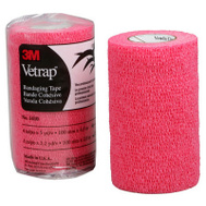 3M 1410R Vetrap Bandaging Tape 4 Inch By 5 Yard Rolls Red