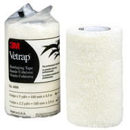 3M 1410W Vetrap Bandaging Tape 4 Inch By 5 Yard Rolls White