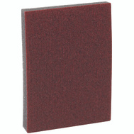 3M 07058 Pro Pad Sanding Sponge Red 4 Inch By 2-7/8 Inch By 1/2 Inch 80 Grit