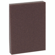 3M PRPD-100 Pro Pad Sanding Sponge Brown 4 Inch By 2-7/8 Inch By 1/2 Inch 100 Grit