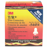 3M T/R+ Super Tan Wire Connectors Tan/Red, 22-8 Awg, Box Of 100