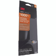 3M 03001 Sandpaper W/D 1000G 3-2/3X9in 5 Pack