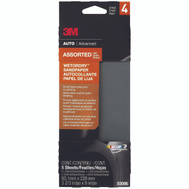 3M 03006 Sandpaper W/D Asst 3-2/3X9in 5 Pack