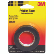 3M 3407 Scotch Friction Tape Black 3/4 Inch By 20 Foot