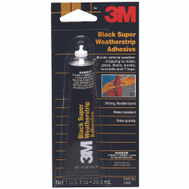 3M 03602 Black Weather Strip Adhesive, 1 Ounce