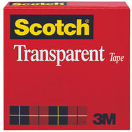 3M 600 Scotch Transparent Tape Premium 1/2 Inch By 72 Yards