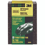 3M 909ESF Sanding Sponges, 3-3/4 Inch By 2-5/8 Inch By 1 Inch, Medium And Coarse Grit