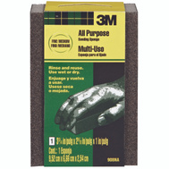 3M 908-ESF Sanding Sponges, 3-3/4 Inch By 2-5/8 Inch By 1 Inch, Fine And Medium Grit