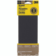 3M 9089 Drywall Sanding Screens Die-Cut Waterproof, 4-3/8 Inch By 11 Inch, Fine Grit