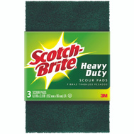 3M 223-7 Scotch Brite Heavy Duty Scouring Pad, 3 Pack