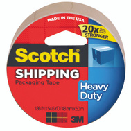 3M 3850T/3501T Scotch Packaging Tape, Super Strength, Tan, 2 Inch By 60 Yards