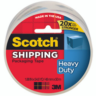3M 3850 Scotch Packaging Tape, Polypropylene Film, Heavy Duty, Clear, 2 Inch By 55 Yards