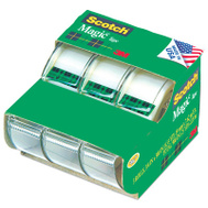 3M 3105 Scotch Matte Finish Invisible Tape With Plastic Dispenser 3/4 By 300 Inch 3 Roll Pack