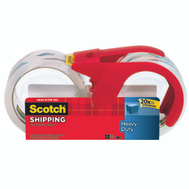 3M 3850S-2-1RD Scotch Heavy Duty Tape With Dispenser Pack Of 2