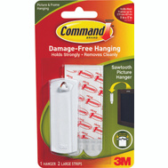 3M 17040 Command Saw Tooth Picture Hanger With Adhesive