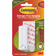 3M 17041 Command Wire Backed Picture Hanger With Adhesive