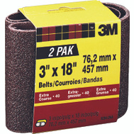 3M 9284-2 3 By 18 Inch Power Sanding Belts Heavy Duty 40 Grit Extra Course 2 Pack