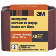 3M 9261-2 3 By 18 Inch Power Sanding Belts Heavy Duty 80 Grit Medium 2 Pack