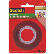 3M 4010 Scotch Mounting Tape Heavy Duty Clear 1 By 60 Inch