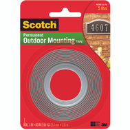 3M 4011 Scotch Exterior Mounting Tape Super Strong 1 By 60 Inch