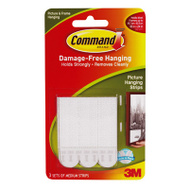 3M 17201CS Command 3 Count Medium Picture Hanging Strips