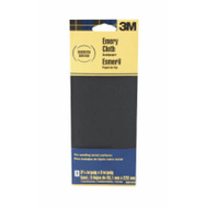 3M 5931ES Emery Cloth Sandpaper, Assorted Grit, 3-2/3 Inch By 9 Inch, 3 Pack