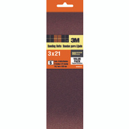 3M 99265 3 By 21 Inch Sanding Belts 80 Grit Medium 5 Pack