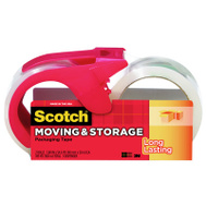 3M 3650-2-1RD Clear Moving And Storage Tape & Dispenser 2 Roll Kit 1.88 Inch X 54.6 Yards