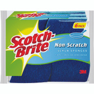 3M 526 Scotch Brite Scrub Sponge, Multipurpose, 6 Pack