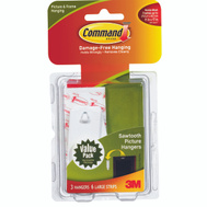 3M 17042 Command Saw Tooth Picture Hangers, 3 Pack
