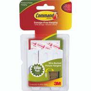 3M 17043 Command Picture Hangers, Wire Backed, 3 Pack