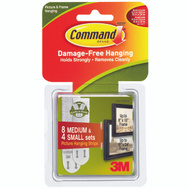 3M 17203-ES Command Picture Hanging Strips, Small And Medium
