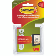 3M 17205 Command Picture Hanging Strips Small Pack Of 16 (8 Sets)