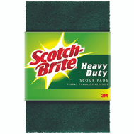 3M 220-8-3M Scotch Brite Scouring Pads, Heavy Duty, 6 Inch By 9 Inch, 8 Pack