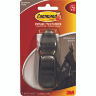3M FC13-ORB Command Decorative Hook, With Adhesive, Large, Oil Rubbed Bronze