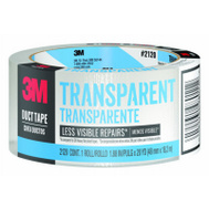 3M 2120-C Scotch Transparent Duct Tape 2 Inch By 20 Yards