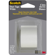 3M 1005-WHT-CD Scotch Multi Purpose Duct Tape White 1-1/2 Inch By 5 Yards