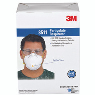 3M 8511PB1-A/8511 Particulate N95 Respirator With Valve 10 Pack