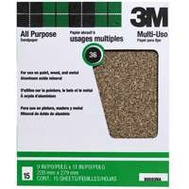 3M 88593NA-15 Aluminum Oxide Sandpaper, 36D Grit, 9 Inch By 11 Inch