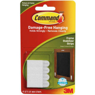 3M 17208-ES Command Frame Stabilizer Strips, White