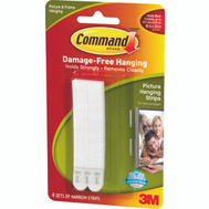 3M 17207 Command Picture Hanging Strips, Narrow, Medium, White