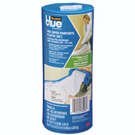 3M PTD2093EL-48 Scotchblue Pretaped Painters Plastic Blue 48 Foot