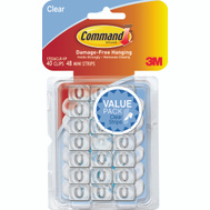 3M 17026CLR-VP Command Clip Decorating Adh Vp Clear 40 Pack