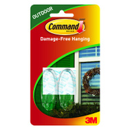 3M 17091CLR-AW Command Hook Window Outdoor Clear Med