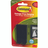 3M 17201BLK Command Picture Hanging Strips, Medium, Black