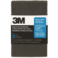 3M 10144 Between Coats Finishing Pads 6 Inch By 3-7/8 Inch, 2 Pack