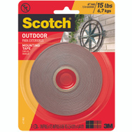 3M 411-MEDUIM Scotch Outdoor Mounting Tape, Double Sided, 1 Inch By 175 Inch