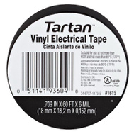 3M 1615 Tartan Vinyl Electrical Tape Flame Retardant 3/4 Inch By 60 Foot