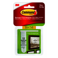 3M 17204-12ES Command Strip Hang Medium Picture V-Pk