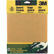 3M 9000NA Sand Blaster Aluminum Oxide Sandpaper Sheets, 220 Grit, 9 Inch By 11 Inch, 5 Pack
